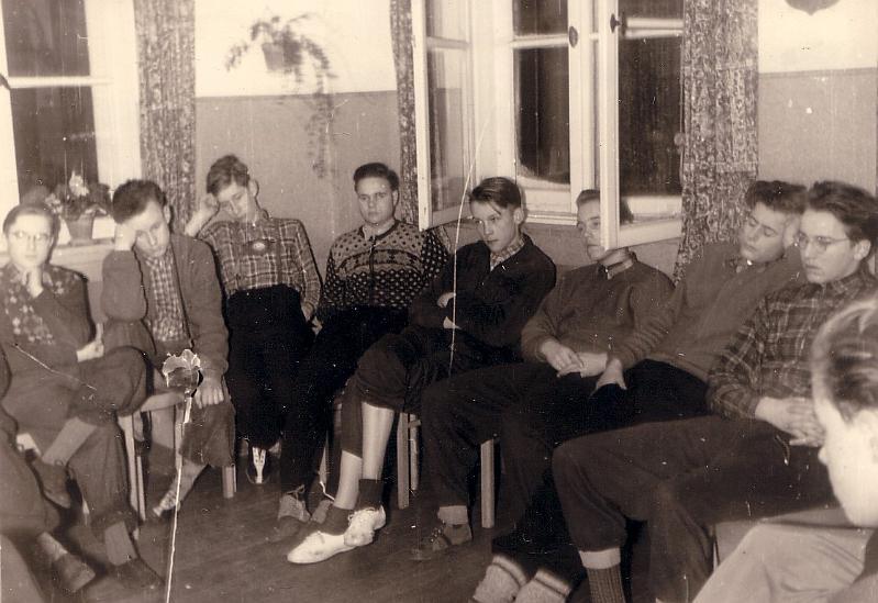 Dörenberg, 18./19. Januar 1955 - im Tagesraum